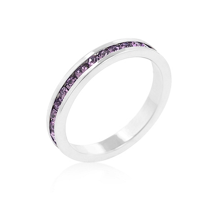 Eternity Stylish Stackables with Lavender CZ Ring