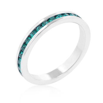 Eternity Stylish Stackables with Turquoise CZ Ring
