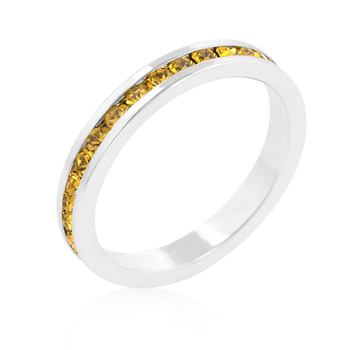Eternity Stylish Stackables with Yellow CZ Ring