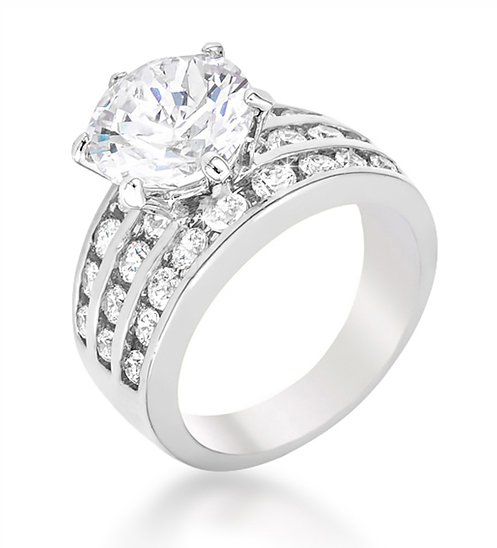 75 ct cocktail classic pave engagement ring - Cheap Wedding Rings Under 100