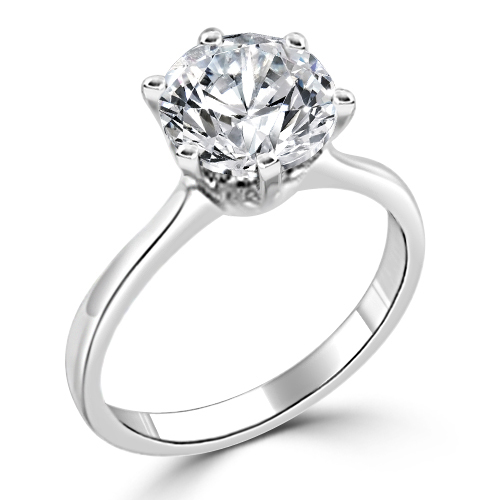 classique 2 carat tiffany style engagement sterling silver ring - Cheap Sterling Silver Wedding Rings
