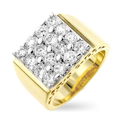Pave Square Mens Ring - DT Jewelers
