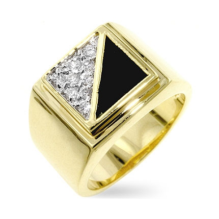 Gemini CZ Mens Ring - Jewelry Gifts