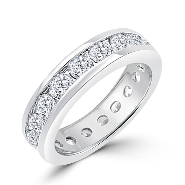 Lustrous Eternity Wedding Band