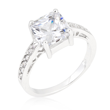 Engagement Princess Clear Ring 2.1 CT