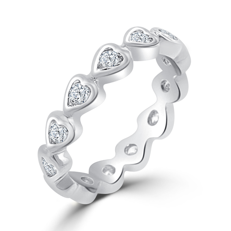 Heart Eternity Wedding Ring Under $100