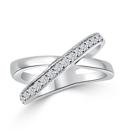Dual Eternity CrissCross Wedding Ring