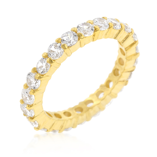 Jessica Wedding Band in Goldtone Finish 3.9 CT