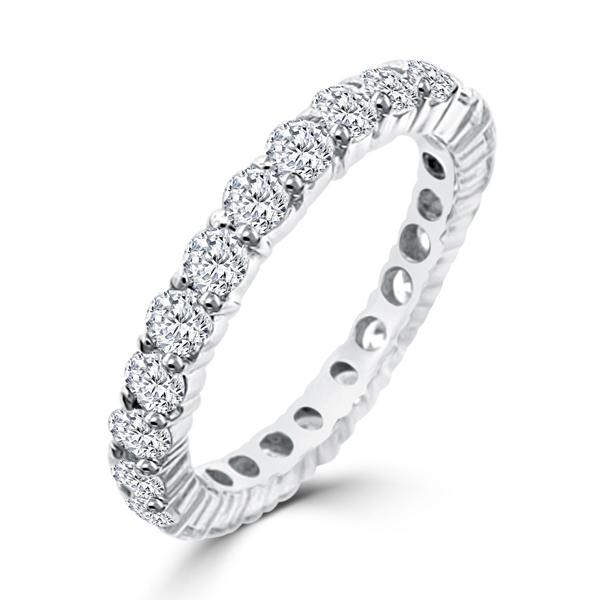 sterling silver eternity terra bella wedding band - Cheap Wedding Rings Under 100