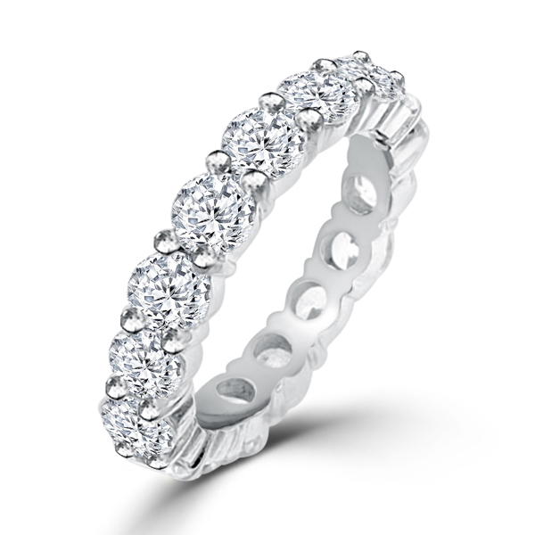 Sterling Silver 8.5 Carat CZ Classic Sarah Wedding Ring