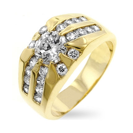 CZ Sunrise Ring - Amazing Gift Idea