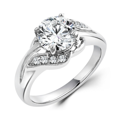 elegant engagement ring with unique floral design - Fancy Wedding Rings