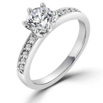 Tiffany Style 6-Prong Engagement Ring 2CT CZ
