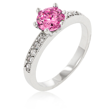Petite Pink Engagement Ring Under $100