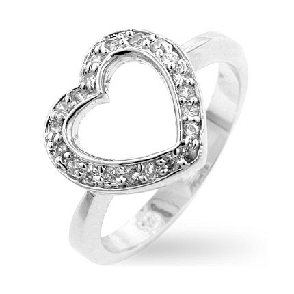 Sterling Silver Heart Silver Ring