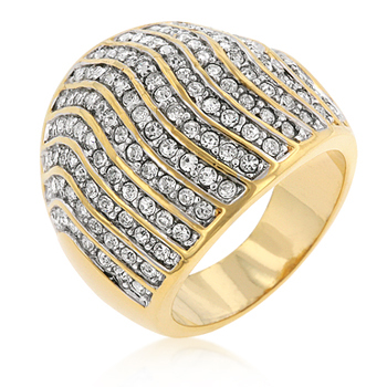 Pave Crystal Cocktail Ring - Jewelry Sale