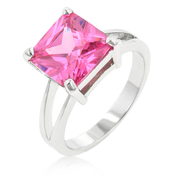 Solitaire Pink Ice Gypsy Ring