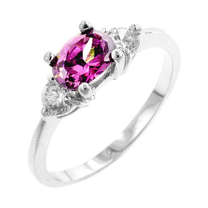 3-Stone Oval Treble CZ Ring - Gifts from DT