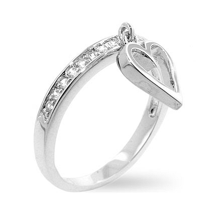 Contemporary Silver Cupid Eternity Ring