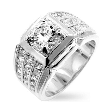 Rock Solid CZ Ring - DT Jewellers