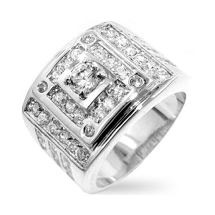 Geometric CZ Ring - Fashion Jewelry