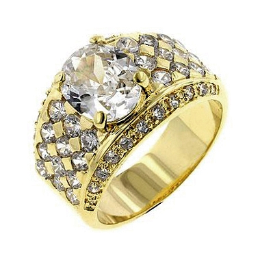 Gold Oval CZ Ring - Gifts from DT