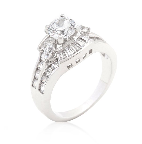 Classic Centennial Engagement Ring with 4.4 CT Brilliant CZ