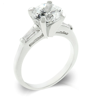 3-Stone Classic Triple White Engagement Ring