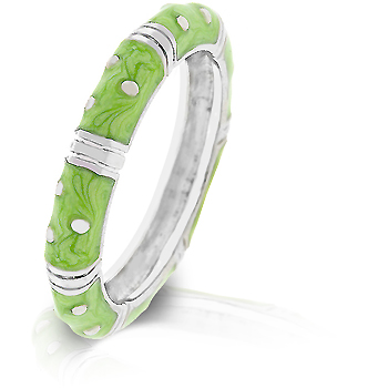 Marbled Apple Green Enamel Stacker Ring