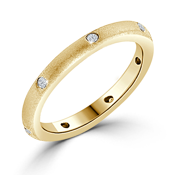 Contemporary Gold Plated Matte Wedding Band