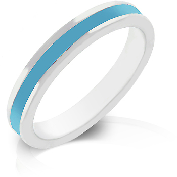 Aqua Enamel Eternity Ring - Perfect Jewelry Gift