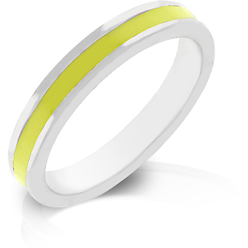 Yellow Enamel Eternity Ring - DT Jewelers