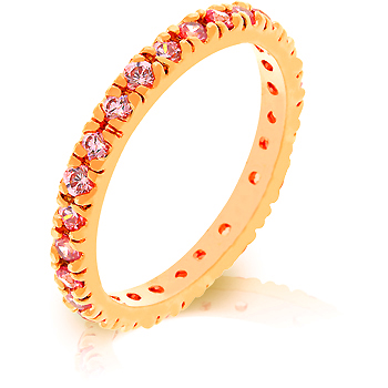 Pink CZ Eternity Ring - Jewelry Gifts