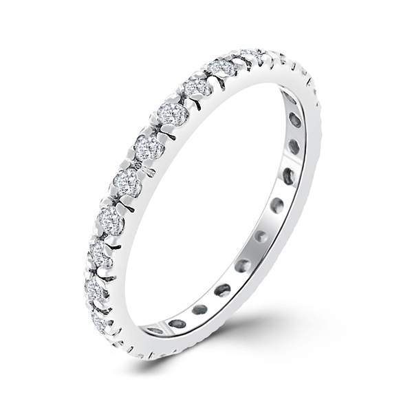Modern Era Eternity Wedding Ring 0.6 CARAT CZ