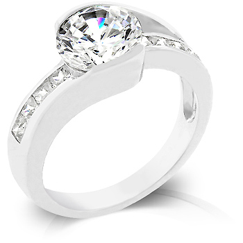 Engagement Cinderella Ring with 3.5 CT Cubic Zirconia