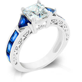 3.5 Sapphire CZ Regal Vintage Engagement Ring