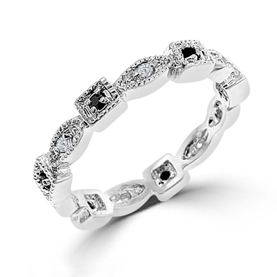 Classic Square and Oval Eternity Wedding Band