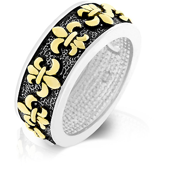 Eternity Antique Fleur De Lis Wedding Ring