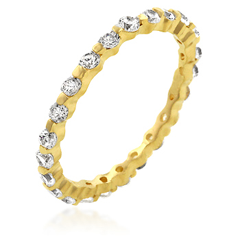 Exclusive Golden Lace Eternity Wedding Band
