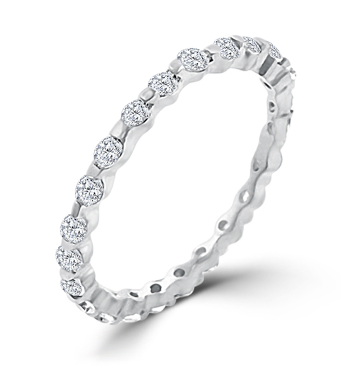 2.5 CT Sterling Silver Lace Eternity Wedding Ring