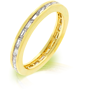 Classic Golden White Eternity Ring