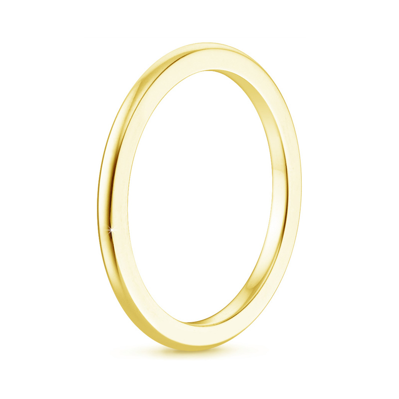 2 mm Comfort Fit Plain Thin Wedding Band Ring
