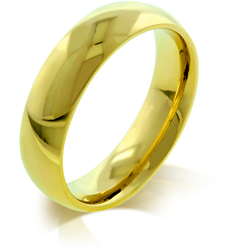Wedding 5 mm IPG Gold Stainless Steel Band