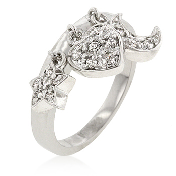 Contemporary Triple Charm Ring