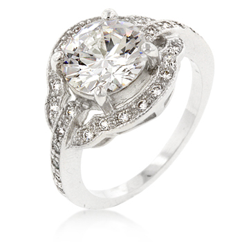 Emma Antique Engagement Ring with Brilliant 6.5 CT CZ