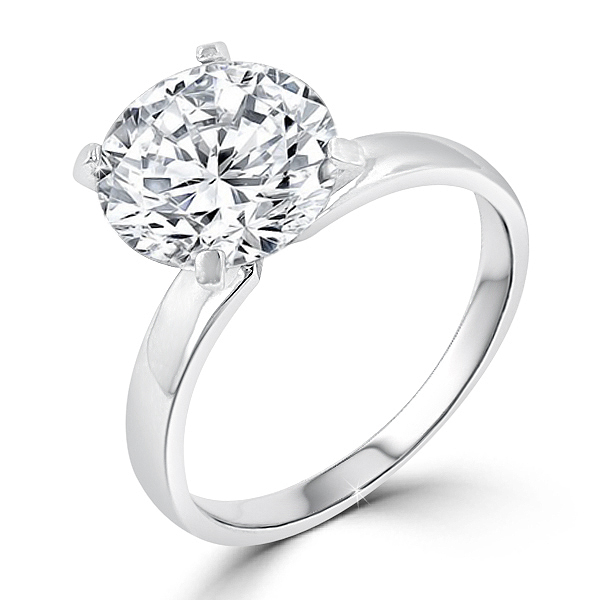 STERLING SILVER Solitaire Engagement Ring 3 CT CZ