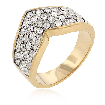 Chevron Pave Crystal Bridal Ring From DT Jewellers