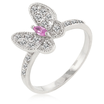CZ Butterfly Cocktail Ring - A Gift with Passion