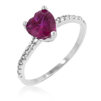 Ruby Red Heart Promise Ring - Jewelry Gifts