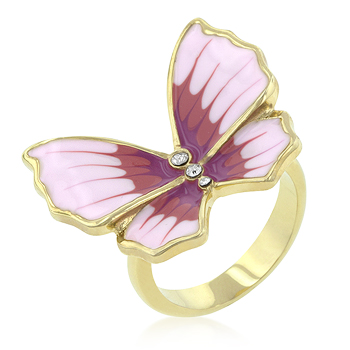 Butterfly 3-Stone Ring - Unique Italian Design
